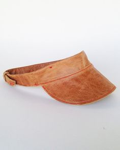 Visor made from Remnant Leather by #RightTribe $58  #visors