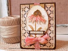 Happy Friday, Crafty Friends! Today I have another Creativation show project to share. This time, a soft and shabby floral card I made for the Ranger Ink booth. I am a sucker for browns and neutral…