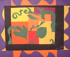 For the Love of Art: 5th Grade: Fall Leaves & Wind Matisse Collage