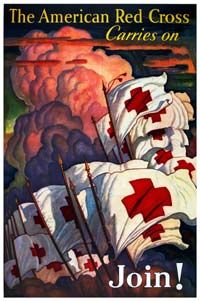 American Red Cross recruitment poster, WWI era. http://www.google.com/imgres?start=132&hl=en&sa=X&biw=1024&bih=578&tbm=isch&prmd=imvns&tbnid=XCQAZr-MzB4u0M:&imgrefurl=http://www.redcross.org/museum/history/20-39.asp&docid=0zPRJJ0e2oJEiM&imgurl=http://www.redcross.org/museum/images/posters/poster_6.jpg&w=200&h=301&ei=d43JT7vCH-nu0gG93a1r&zoom=1&iact=hc&vpx=104&vpy=225&dur=2894&hovh=240&hovw=160&tx=71&ty=71&sig=113939858693276322404&page=7&tbnh=133&tbnw=87&ndsp=22&ved=1t:429,r:16,s:132,i:140