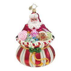 Sweet Tooth Santa Ornament by Christopher Radko $45.00