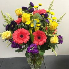 """Enjoy Your Day"" Bouquet out the door for delivery! #mmflowers"
