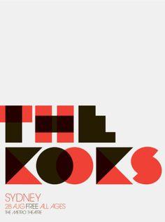 The Kooks Pinned for FarOut www.faroutny.com, @faroutny #faroutny Typography Inspiration, Type, Good Typography, Typography Design, Graphic Design, Design
