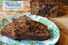 Nutella Banana Bread --- MUST MAKE! This is so delicious!