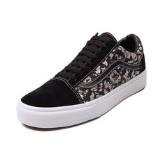 Shop for Vans Old Skool Liberty Cash Skate Shoe in Black at Journeys Shoes. Shop today for the hottest brands in mens shoes and womens shoes at Journeys.com. Kick back in retro style with the new Old Skool Liberty Cash Skate Shoe from Vans! The Liberty Cash Skate Shoe sports a vintage ivy printed textile and synthetic suede combination upper, signature side stripe, padded tongue and collar, and vulcanized rubber outsole with Vans waffle tread. Available only online at Journeys.com!