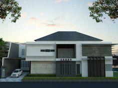 desain rumah mewah 2 lantai