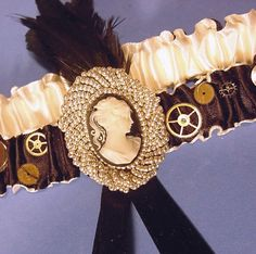 #Steampunk Wedding garter#Steampunk Wedding ... Wedding ideas for brides & bridesmaids, grooms & groomsmen, parents & planners ... https://itunes.apple.com/us/app/the-gold-wedding-planner/id498112599?ls=1=8 … plus how to organise an entire wedding, without overspending ♥ The Gold Wedding Planner iPhone App ♥