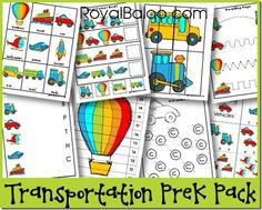 Transportation Pack - at's In the Pack? 3 Part Cards Patterning Cards What Comes Next? 4 Piece Puzzles Which is Different? Prewriting Page Beginning Sounds What Color Is The Car? 1-10 Puzzle 11-20 Puzzle Skip Count by 5's Puzzle Skip Count by 10s Puzzle Dot the Bb's Dot the Ccs Shadow Matching Coloring by Letter Roll and Graph Roll and Color Playdough Mats Counting Clip Cards