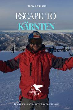 """Wir alle kennen das Gefühl, wenn es am Vorabend geschneit hat und wir vor lauter Freude am liebsten sofort auf den nächsten Berg fahren würden, um zu """"powdern"""".  Diese Verhältnisse findet man auf der Gerlitzen in Kärnten mit Blick auf den Ossiacher See. Mehr auf unserer Homepage :) #kärnten #gerlitzen #skifahren #snowboardfahren #urlaubinkärnten #urlaubinösterreich #winterwonderland #ausflügeinkärnten #ausflügeinösterreich #hierwohntdasglück #ossiachersee Snowboard, Need A Break, Greatest Adventure, Berg, Finding Yourself, Movies, Movie Posters, Ski, Road Trip Destinations"""