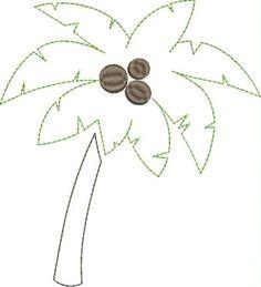 Palm Tree Applique Snap Shot
