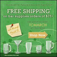 Free shipping on all bar supplies orders of $75+. Sale on through Saturday, March 17th!