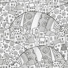 Would you like to visit a magic city? To explore streets and squares while wondering in your thoughts? That is something fantastic you can do, when you can't go to a vacation. Download this amazing Magic City coloring page and let the virtual traveling begin!