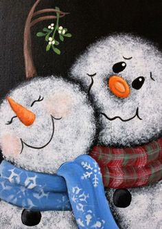 Mistletoe Snowman Painting Original Hand painted 11 x image 1 - Painting Ideas On Canvas Christmas Signs, Christmas Snowman, Winter Christmas, Christmas Decorations, Christmas Pictures, Winter Snow, Halloween Decorations, Snowman Crafts, Christmas Projects