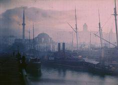 Jules Gervais - Levers soleil sur Istamboul, 1908 Autochrome