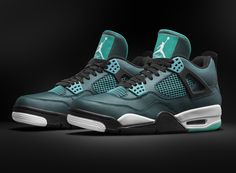 Air Jordan 4 'Remastered' – Teal can't wait till these come out I want them for my birthday they release 2 days after it