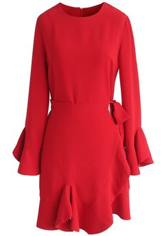 Feeling Feminine Scarlet Dress - New Arrivals - Retro, Indie and Unique Fashion