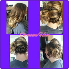 Side curls with plait to the bottom