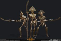 """""""Tomb Guard"""" unit created for Total War: Warhammer 2 DLC. Warhammer Tomb Kings, Warhammer Art, Goddess Art, Egyptian Goddess, Tomb Guard, Egypt Design, Cartoon Witch, Warhammer Fantasy Roleplay, Creative Assembly"""