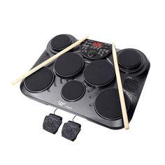 Pyle Electronic Table Digital Drum Kit Top w/ 7 Pad Digital Drum Kit