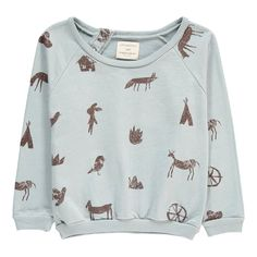Forest Folk Printed Sweatshirt - Yellow Pelota