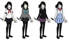 Yandere chan's uniforms