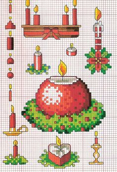 Grande raccolta schemi a punto croce tema Natale | Punto croce - Schemi e Ricami gratuiti