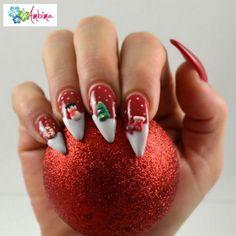 Αποτέλεσμα εικόνας για red coffin nails with diamonds