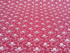 CP0120 Wine floral flowers Cotton poplin fabric Rose and Hubble bows, cushions, bunting summer, kids cots, women dress Fabric - PER METRE