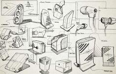 consumer electronic sketches. www.brentradewald.com