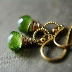 Gold & peridot