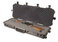Hardigg Storm Case IM3200 Hardshell Case £320.00 This is the fifth Pelican case that I've purchased. The length is perfect for both my Mossburg 500 and Ruger 10/22, side by side.