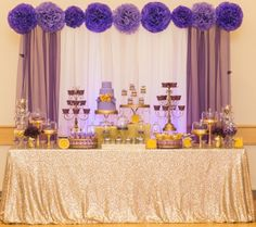 This Weeks Post Is A Purple And Gold Dessert Table I Did For Birthday Graduation Party Couple Of Ago Enjoy ViewingPhoto Credit Dotun Ayodeji