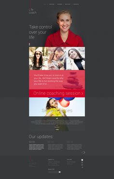 Website Template , Life Coach