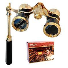 HQRP 3 x 25 Opera Glass Binocular in Elegant Black Color w/ Built-In Elegant Black Extendable Handle with Gold Trim plus Coaster HQRP http://www.amazon.com/dp/B001TH4OAA/ref=cm_sw_r_pi_dp_17Twvb0EWKSH0