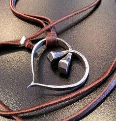 horseshoe nails | Horseshoe nail heart necklace by SteelOrchidOriginals on Etsy