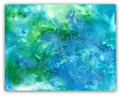 "ARTFINDER: Class M, Selah Series by Jessica Sanders - ""Class M"" is a lightly textured painting with bold vibrant blues and greens, and misty whites, with a hint of sparkle, give the impression of the land and oc..."