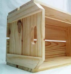 caixote de feira novo decoração artesanato (59x30x30)