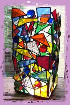 Must see this unique design. Stained glass suncatcher, stained glass panel.