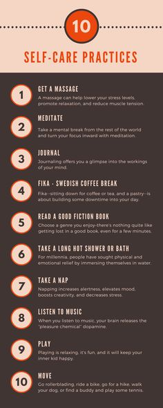 Self-care is care given for you, by you. And it's vital for your well-being. Here are 15 ways to give yourself some self-nurturing.