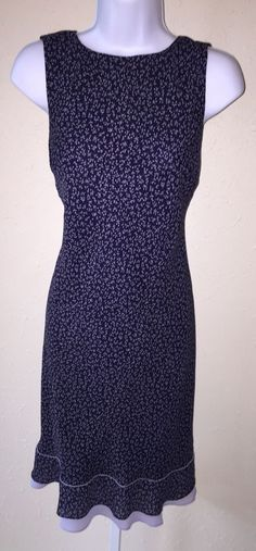 Ann Taylor Loft Navy Lavender Floral Sleeveless Shift Dress Size 2 Ruffle Hem | eBay