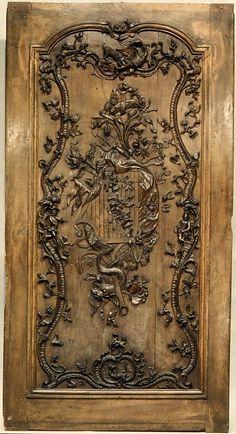 Walnut Door(?) panel