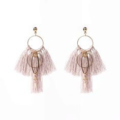 Description: – Brass plated with gold – Cotton/silk colourful tassels – Earrings about long Gosia Orlowska Designs: Buy Bespoke Fashion Jewellery Online Indian Jewellery Online, Fashion Jewellery Online, Indian Jewelry, Tassel Earrings Outfit, Drop Earrings, Wire Jewelry, Silver Jewelry, Dolphin Jewelry, Engraved Jewelry