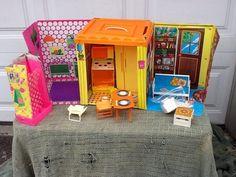 1973 Vintage Barbie Country Living Home w Furniture Barbie Shower Appliances | eBay