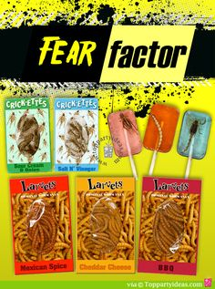 Fear Factor Party Foods I want to make the kitty litter cake :D