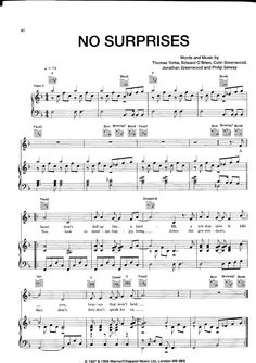 [Sheet Music - Piano Score] Radiohead _-_ No Surprises