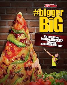 Introducing the BIGGER Big Slice   Mario's Pizza Blog