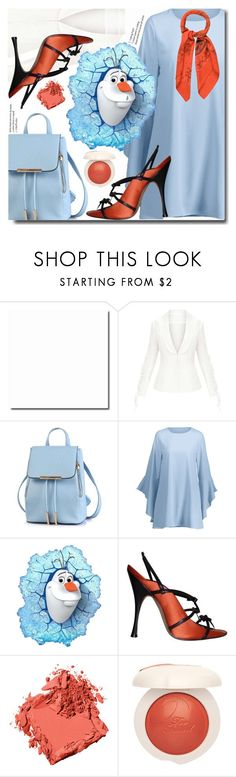 """Blue sky"" by soks ❤ liked on Polyvore featuring Manolo Blahnik, Bobbi Brown Cosmetics and Hermès"