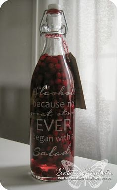 Cranberry-Lime vodka. #Silhouette Cameo #DIY