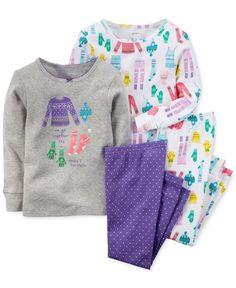 Conjunto 4 peças pijama menina Carter's
