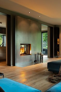 models This style chimney tunnel from BRUNNER knows above all by its outstanding, stylish steel cladding a Steel Cladding, Modern Fireplace, Architecture Design, House Plans, Sweet Home, New Homes, Interior Design, Living Room, Home Decor